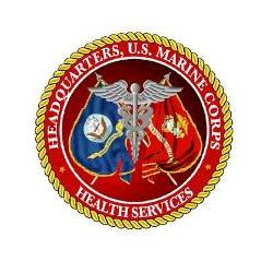 Emblem of Health Services Headquarters, U.S. Marine Corps