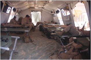 Marines stay cool in tents with radiant barriers and LEDs & Fleet